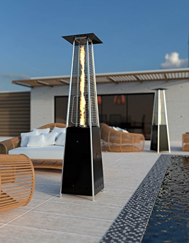 Parasol chauffant pyramide